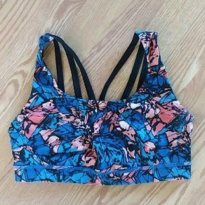 Lululemon sports bra colorful strappy back size 10